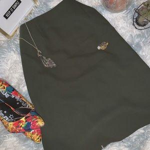 Amanda smith olive skirt